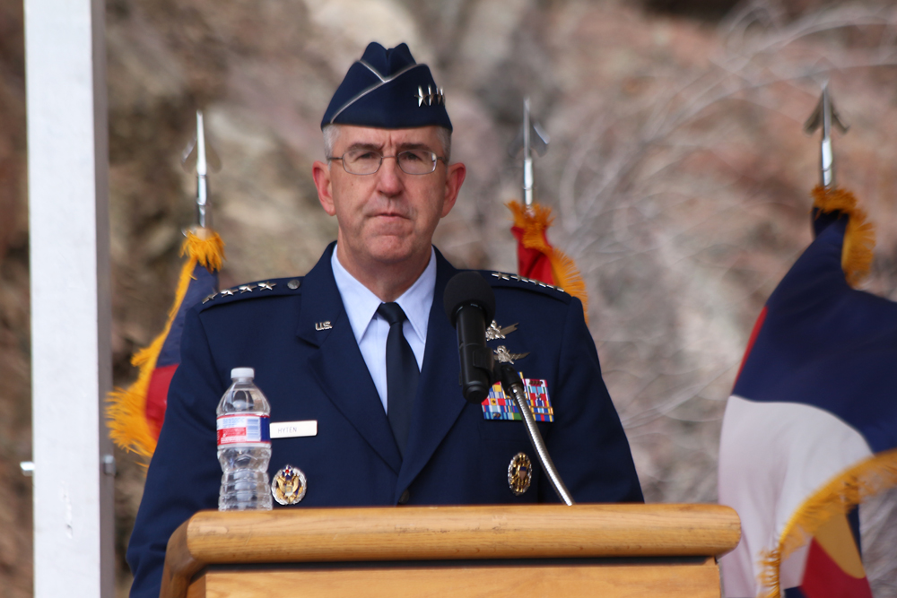 General John Hyten, Air Force Space Command commander. Image Credit: Colorado Space News