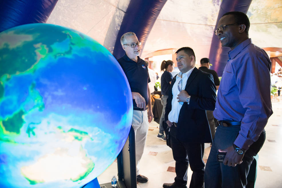 NASA will feature Earth Day exhibits, hands-on activities and demonstrations, as well as talks from NASA scientists, April 21 and 22 at Union Station in Washington. Image Credit: NASA/Aubrey Gemignani
