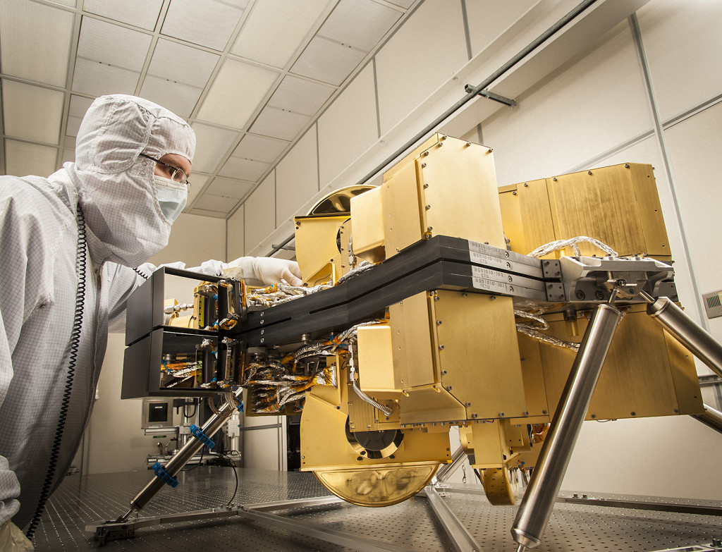 NIRCam (left) beat requirements during final cryogenic testing with the Integrated Science Instrument Module for the James Webb Space Telescope. The module recently completed testing at NASA's Goddard Space Flight Center. Image Credit: Lockheed Martin