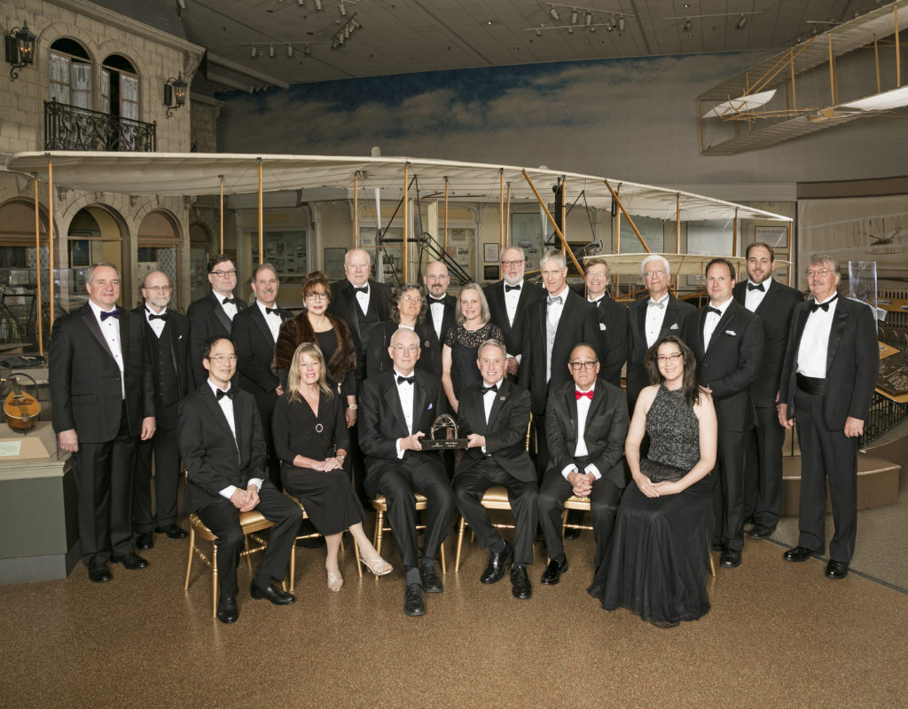New Horizons mission team members display the National Air and Space Museum's Current Achievement Trophy, awarded on April 5, 2016. Image Credit: Eric Long, National Air and Space Museum, Smithsonian Institution