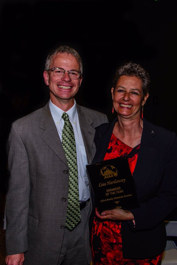 Dr. Lisa Hardaway recognized as the AIAA Rocky Mountain Section Engineer of the Year, 2015-2016.  Image Credit: Ball Aerospace