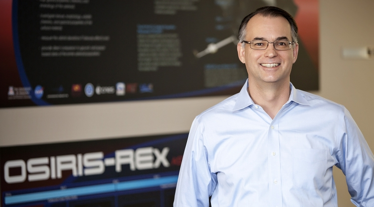 The UA's Dante Lauretta first began work with his mentor, the late Michael Drake, on the OSIRIS-REx mission in 2004. Image Credit: John de Dios/UANews