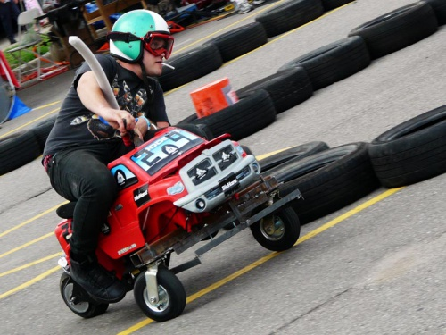 Get a power wheels from a friend or find one dumpster diving. Swap out a battery (or three) and get that chassis rolling! Human driven, these vehicles get punished in multi-lap group races. Bring your costume and a fun hacker attitude. Image Credit: SparkFun
