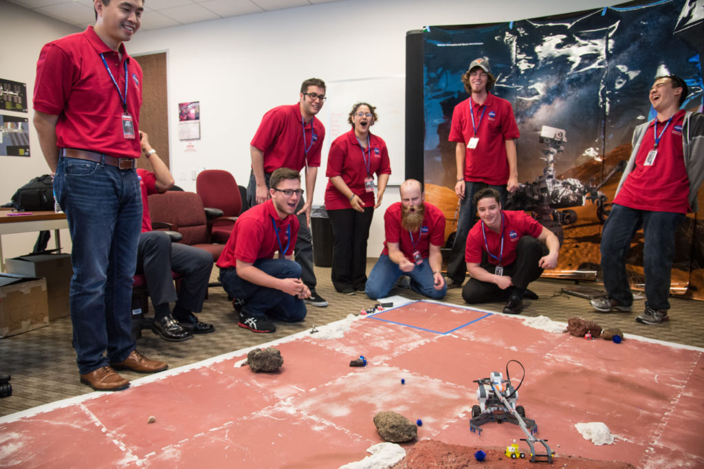 Community college students participate in a rover activity during the 2015 NASA Community College Aerospace Scholars (NCAS) workshop. Image Credit: NASA/Robert Markowitz