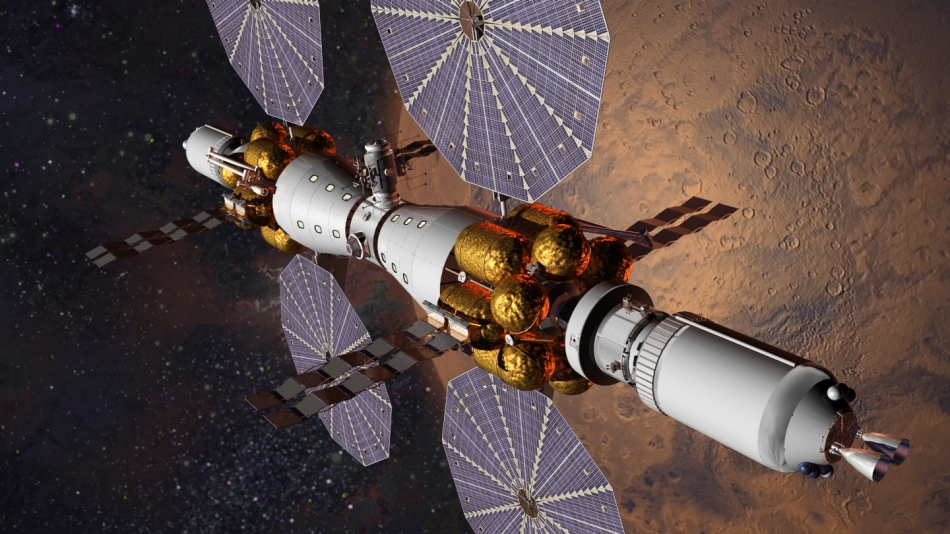 Mars Base Camp is Lockheed Martin's vision for sending humans to Mars by 2028. Image Credit: Lockheed Martin