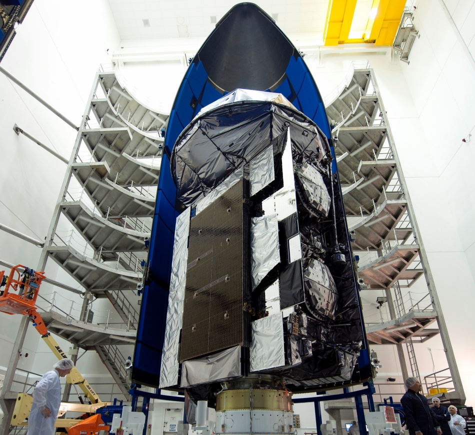 MUOS-5 completes constellation for U.S. Navy's new network. Image Credit: United Launch Alliance