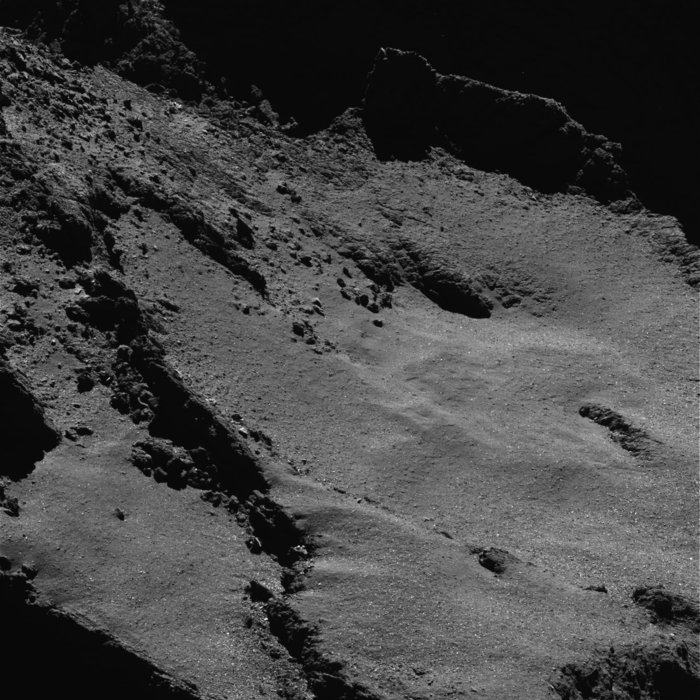 During Rosetta's final descent, the spacecraft will image the comet's surface in high resolution from just a few hundred meters. Image Credit: ESA/Rosetta/MPS for OSIRIS Team MPS/UPD/LAM/IAA/SSO/INTA/UPM/DASP/IDA