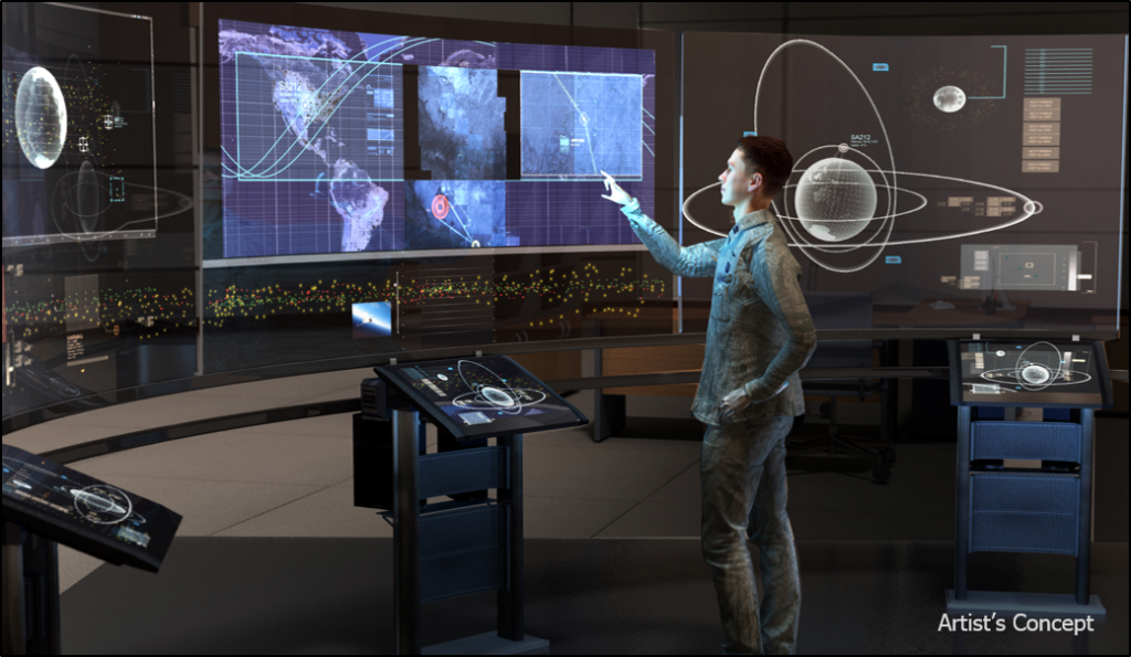 DARPA's new Hallmark program seeks to provide improved capabilities to rapidly plan, assess, and execute the full spectrum of U.S. military operations in space. Image Credit: DARPA