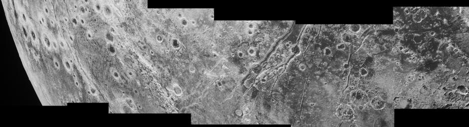 The New Horizons spacecraft spied extensional faults on Pluto, a sign that the dwarf planet has undergone a global expansion possibly due to the slow freezing of a subsurface ocean. A new analysis by Brown University scientists bolsters that idea, and suggests that ocean is likely still there today. Image Credit: NASA/JHUAPL/SwRI