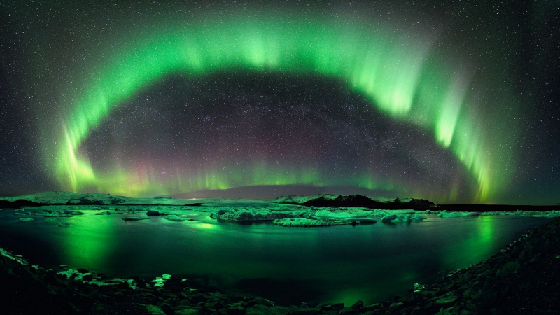 The aurora borealis are the result of space weather interacting with Earth's atmosphere. DSCOVR data will be used in NOAA's aurora forecasts. Image Credit: NOAA