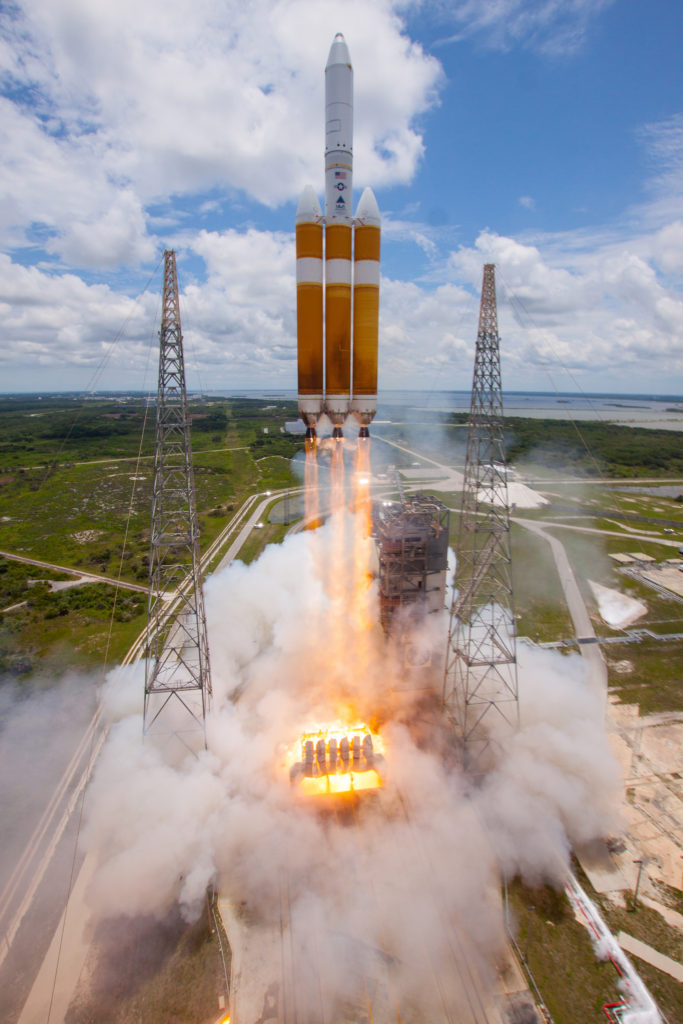 A Delta IV Heavy lifts off carrying NROL-37 for the National Reconnaissance Office. Image Credit: United Launch Alliance
