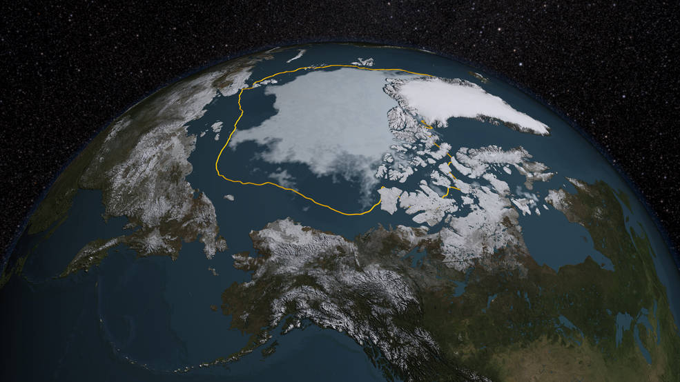 NASA Langley researcher Patrick Taylor finds that the role of clouds and sea ice for Arctic climate change may be more complex than previously thought. Using fused CALIPSO-CloudSAT satellite observations spanning 2006 to 2010, he's shown that cloud concentrations differed between ocean and sea ice much less than expected in summer. Image Credit: NASA