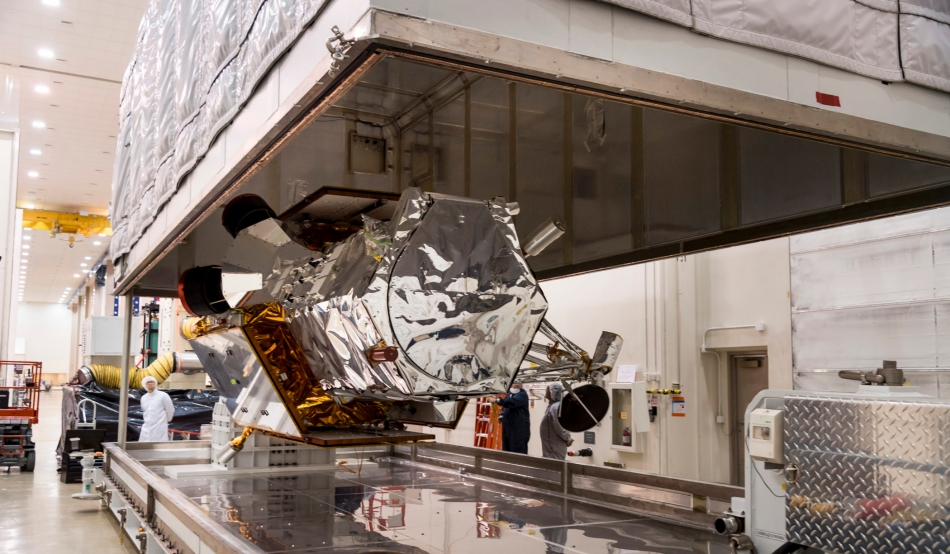 Built by Lockheed Martin, the WorldView-4 satellite will double DigitalGlobe's availability of 30 cm resolution imagery.  Image Credit: Lockheed Martin