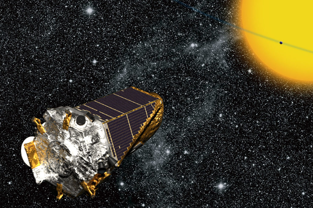 Artist's rendition of Kepler spacecraft. Image Credit: NASA/Kepler mission/Wendy Stenzel