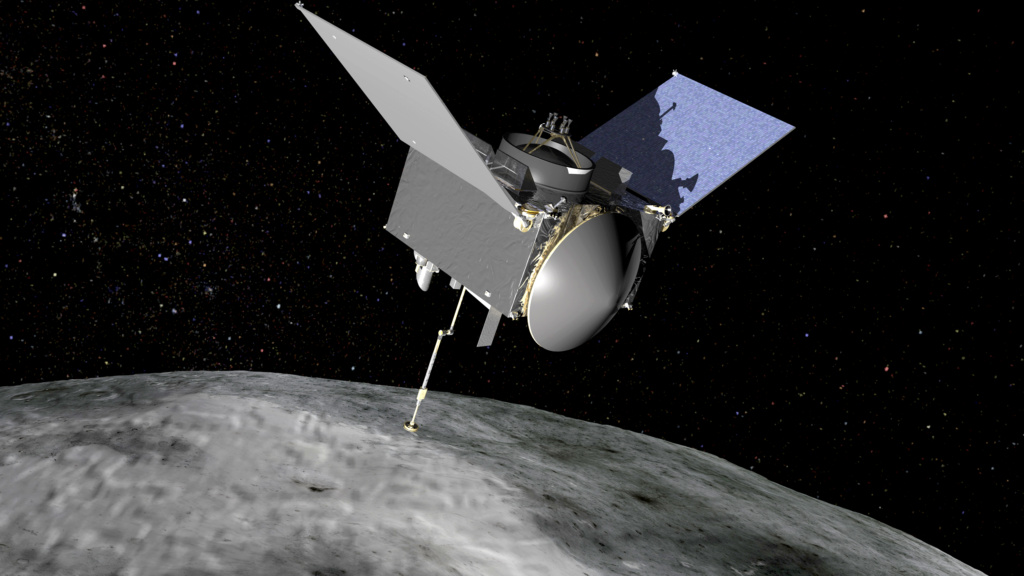 OSIRIS-REx will travel to near-Earth asteroid Bennu on a sample return mission. Image Credit: NASA