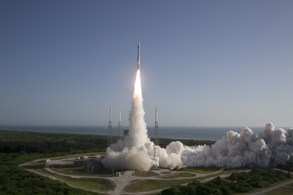 A United Launch Alliance (ULA) Atlas V rocket carrying NROL-61 lifts off from Space Launch Complex-41. Image Credit: ULA/Jeff Spotts