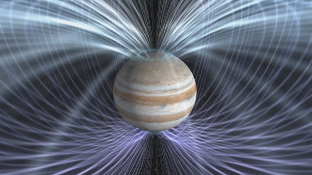 Scientists will use the twin magnetometers aboard NASA's Juno spacecraft to gain a better understanding about how Jupiter's magnetic field is generated. Image Credit: NASA Goddard Space Flight Center
