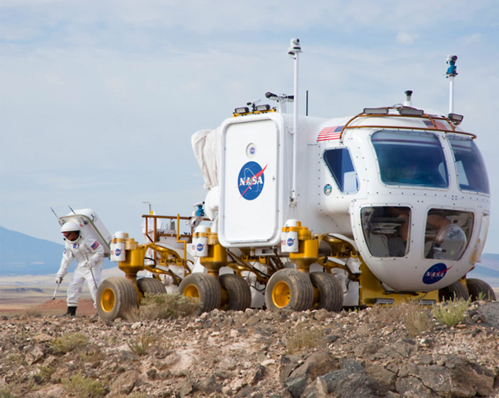 Lunar Electric Rover (LER) Desert Testing in Flagstaff, Arizona. Image Credit: NASA