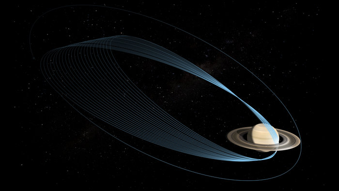 In 2016, NASA's Cassini mission will begin its final 'Grand Finale' and ESA's superbly sensitive deep-space tracking stations will be called in to help gather crucial radio science data. Image Credit: NASA/Jet Propulsion Lab