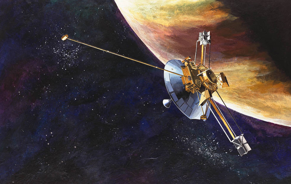 An artist's concept of the Pioneer 10 spacecraft. Image Credit: NASA