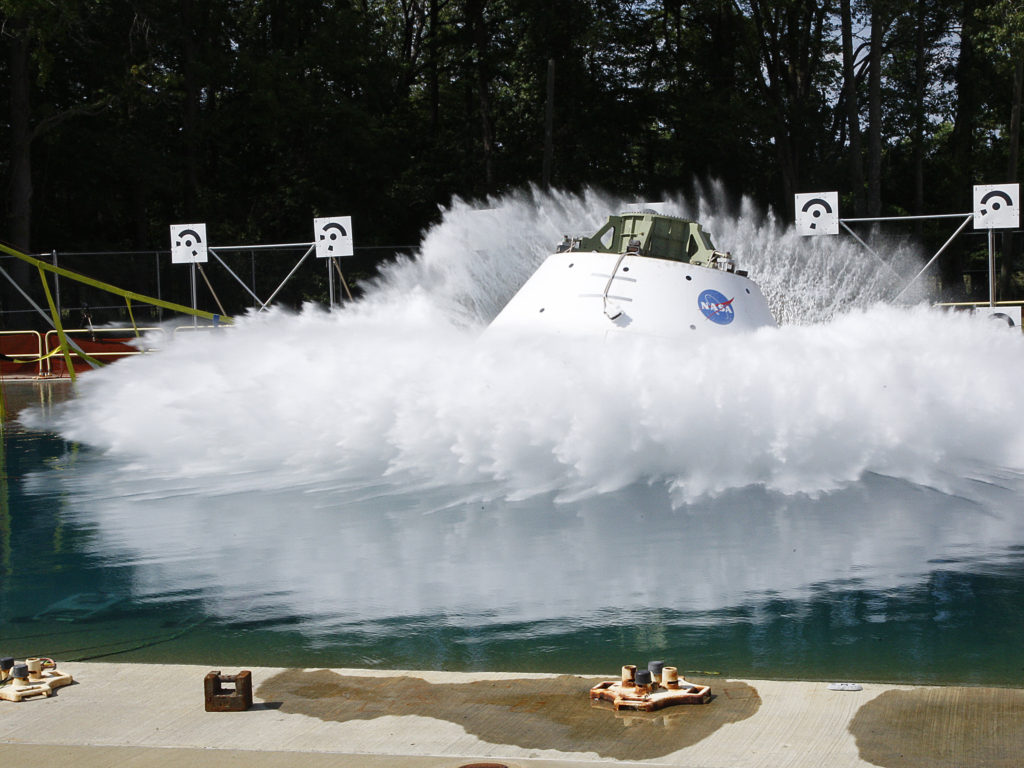 Orion Water Test Drop. Image Credit: NASA Langley Research Center