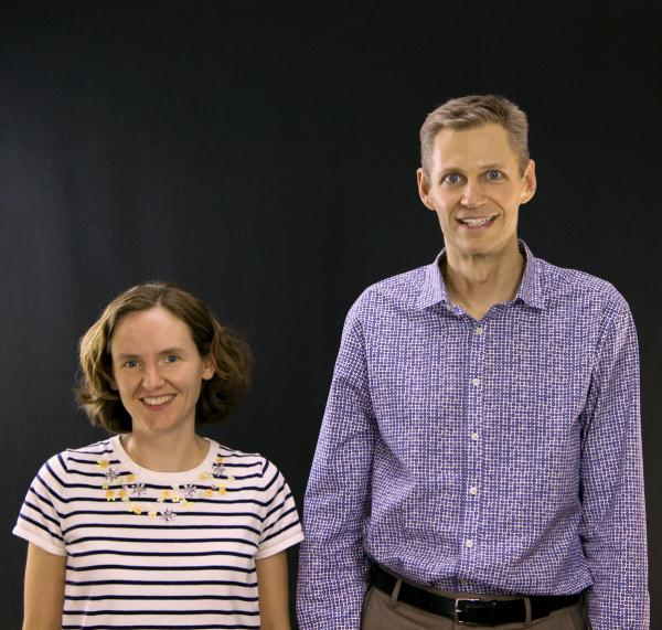 For their work on an electrical to optical converter to further quantum computing, Cindy Regal, left, and Konrad Lehnert, right, will receive one of this year's governor's awards for high-impact research. Image Credit: JILA.