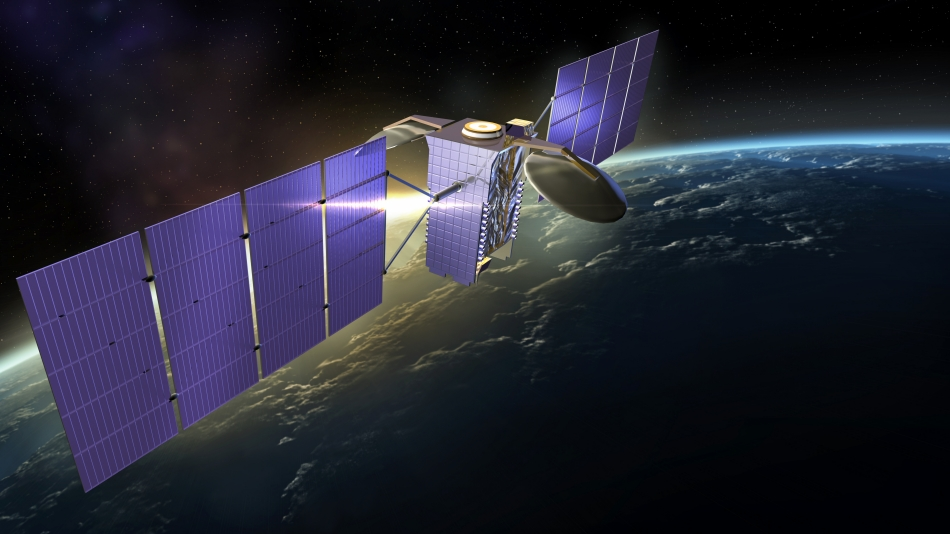 Built by Lockheed Martin, the GE-1 satellite (now AMC-1) is operated by SES and delivered hundreds of channels to millions of people across North America and the Caribbean. Image Credit: Lockheed Martin