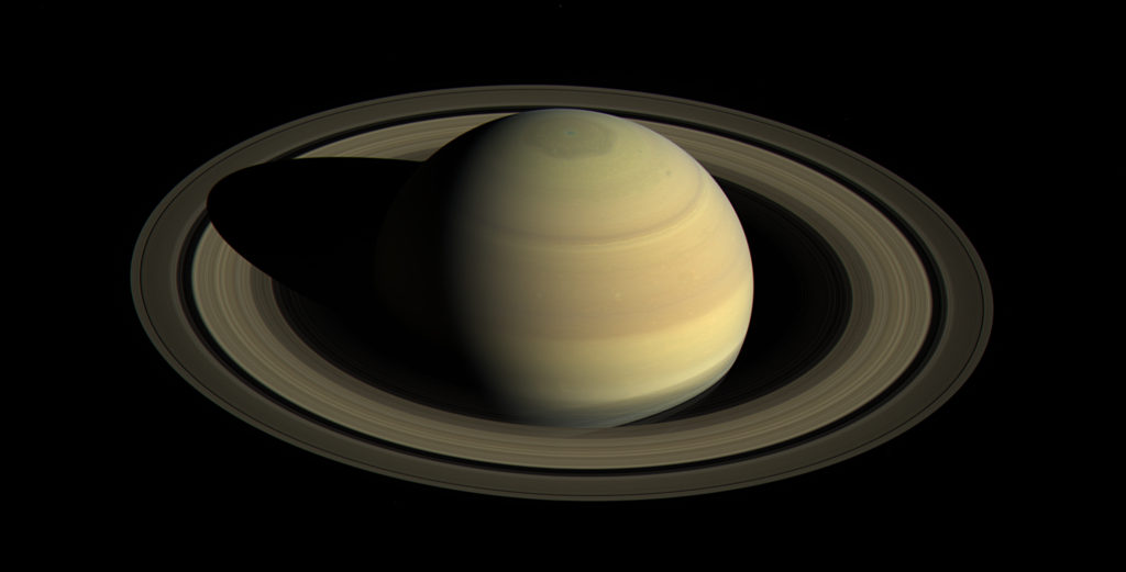 This view shows Saturn's northern hemisphere in 2016, as that part of the planet nears its northern hemisphere summer solstice in May 2017. Saturn's year is nearly 30 Earth years long, and during its long time there, Cassini has observed winter and spring in the north, and summer and fall in the south. Image Credit: NASA/JPL-Caltech/Space Science Institute