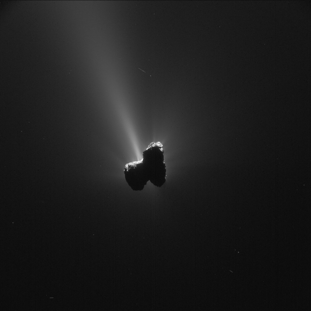 Comet 67P/C-G on 11 September 2015 - NavCam. Image Credit: ESA/Rosetta/NAVCAM, CC BY-SA IGO 3.0