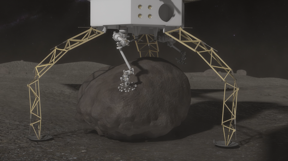As part of the Asteroid Redirect Mission, NASA plans to send a robotic spacecraft to an asteroid tens of millions of miles away from Earth, capture a multi-ton boulder, and bring it to an orbit near the moon for future crew exploration. The mission, which will demonstrate multiple capabilities needed for the Journey to Mars, is targeted for launch in December 2021. Image Credit: NASA