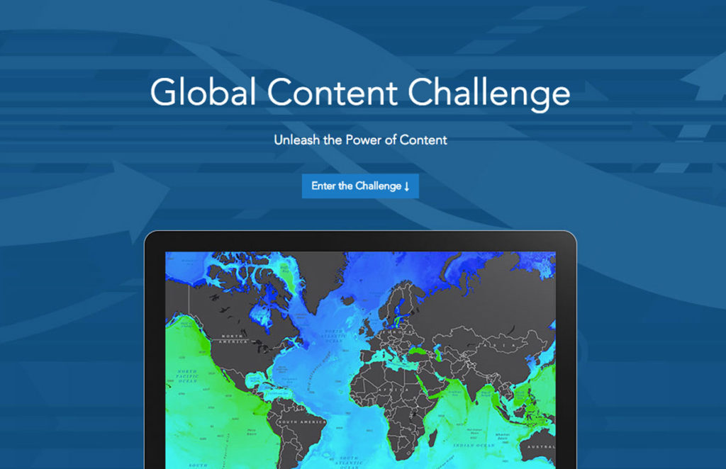 Esri's Global Content Challenge is open to undergraduate or graduate students at colleges or universities and to high school students enrolled in an advanced-placement human geography or environmental science course. Image Credit: Esri