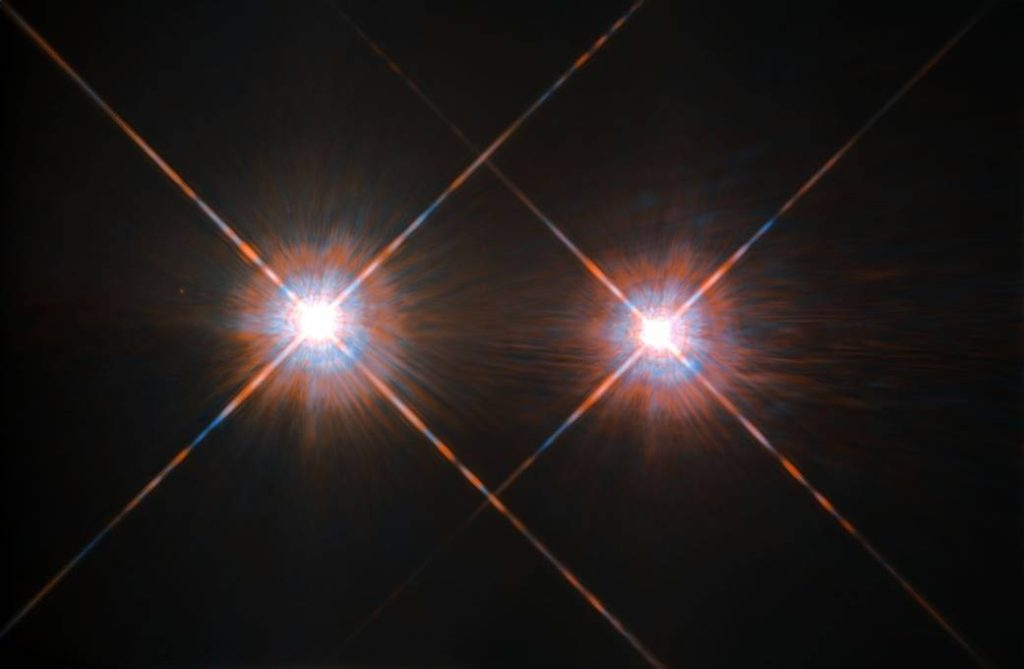 The closest star system to the Earth is the famous Alpha Centauri group. Image Credit: ESA/NASA