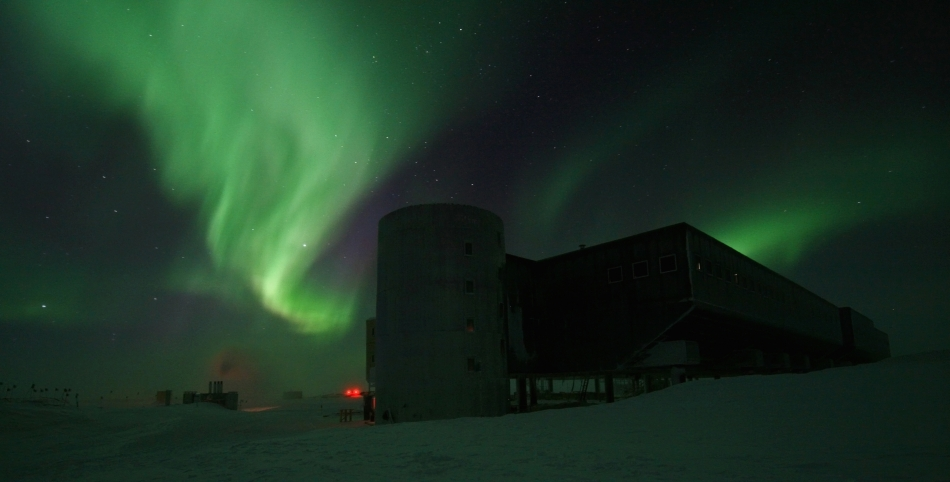 A legacy U.S. Air Force communications satellite built by Lockheed Martin enhances Internet access at the South Pole. Image Credit: National Science Foundation
