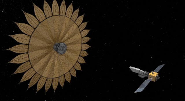 Image of Starshade in the deployed configuration. Image Credit: NASA/JPL/Caltech