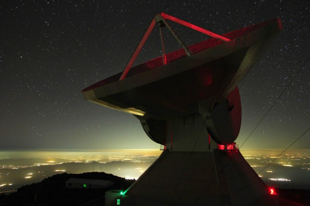 Large Millimeter Telescope on the summit of Sierra Negra, an extinct volcano in Mexico. Image Credit James Lowenthal