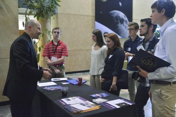Students attend AeroSpace Ventures Day on October 27, 2016. Image Credit: Casey Cass / University of Colorado Boulder