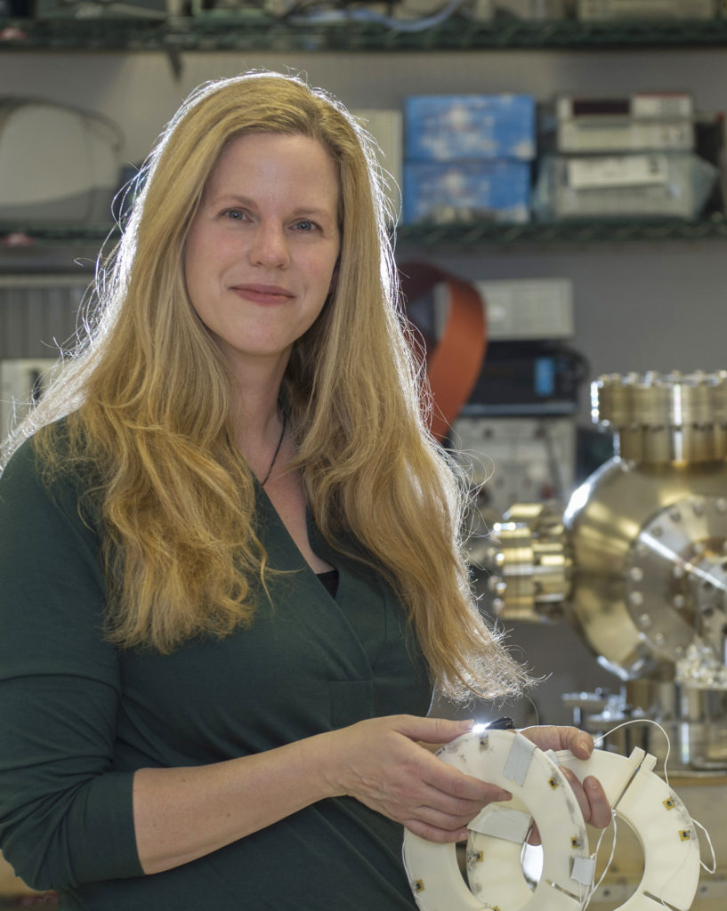 Jessica Gaskin of NASA's Marshall Space Flight Center in Huntsville, Alabama, is leading a team of scientists on a mission to design X-ray Surveyor, a successor to the orbiting Chandra X-ray Observatory. Image Credit: NASA/MSFC/Emmett Given