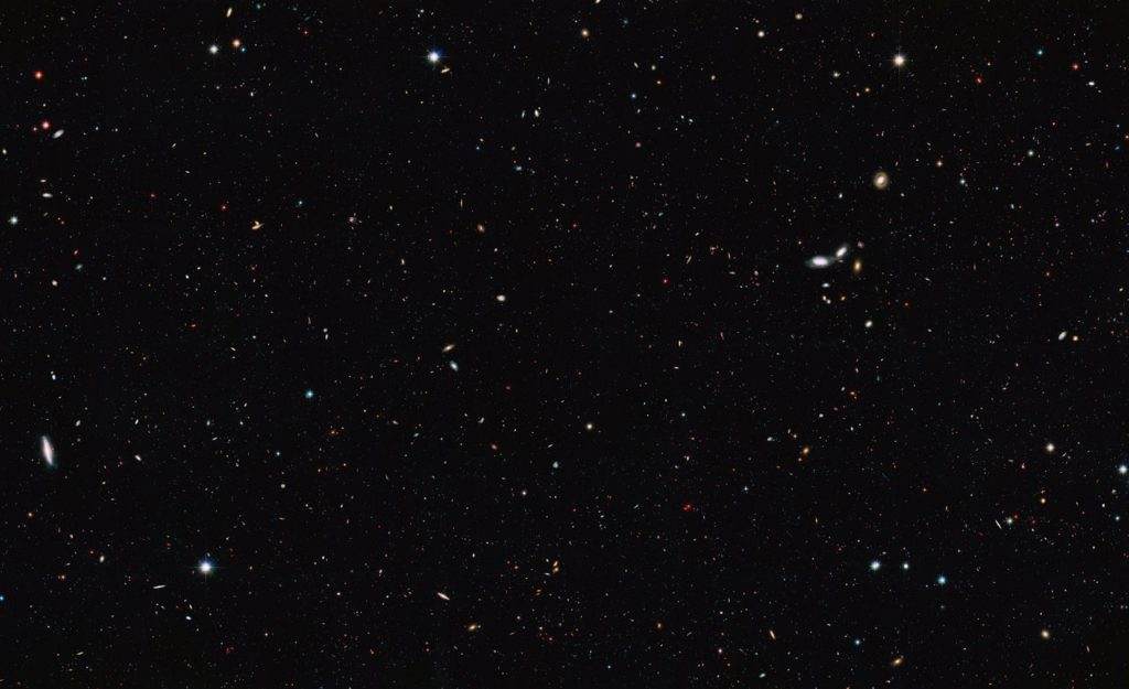 Astronomers using data from the NASA/ESA Hubble Space Telescopes and other telescopes have performed an accurate census of the number of galaxies in the Universe. The group came to the surprising conclusion that there are at least 10 times as many galaxies in the observable Universe as previously thought. Image Credit: NASA/ESA