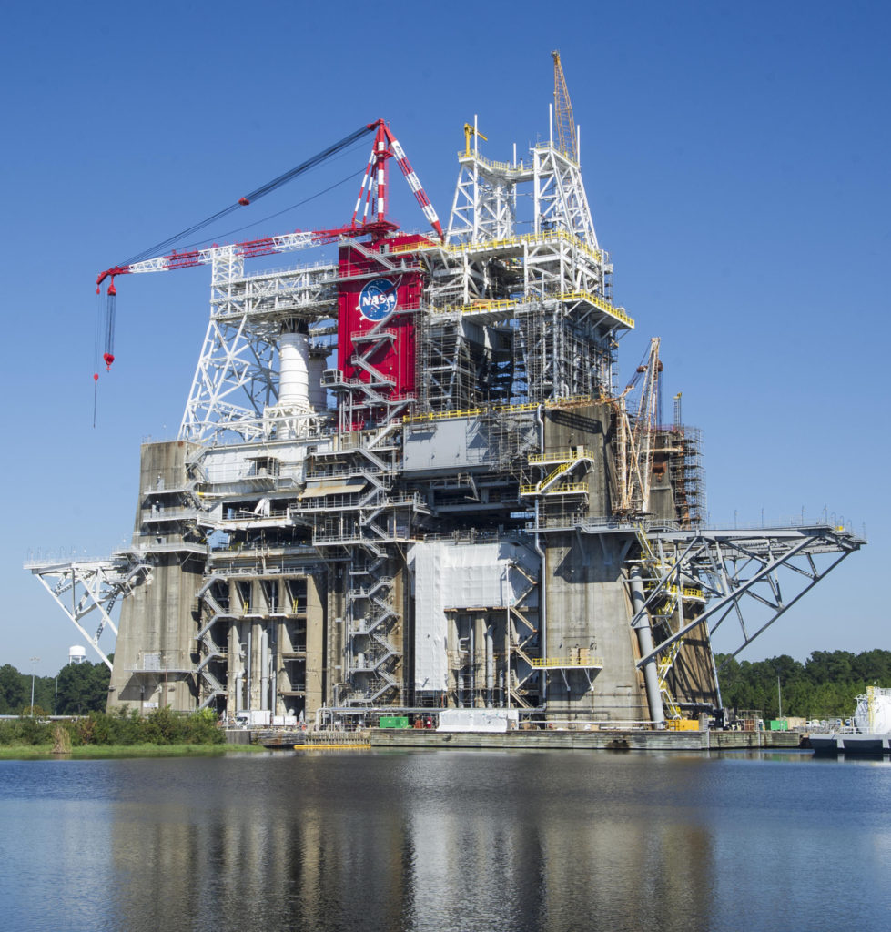 B 2 test stand on schedule for testing space launch system for Stand 2 b