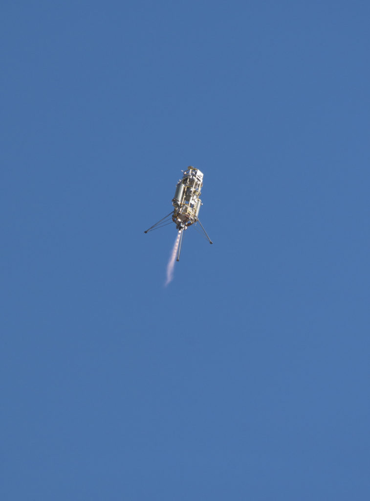 "Mars 2020 Lander Vision System flight tested aboard a Masten ""Xombie"" up to 1,066 feet on December 9, 2014 at Mojave Air and Space Port in California. Image Credit: NASA/Tom Tschida"