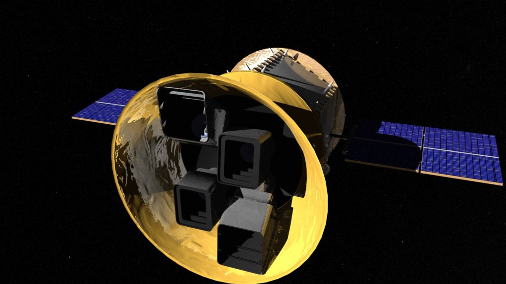 Artist concept of Transiting Exoplanet Survey Satellite. Image Credit: NASA's Goddard Space Flight Center/Chris Meaney