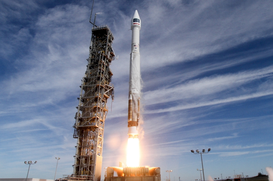 Built by Lockheed Martin, DigitalGlobe's WorldView-4 satellite was launched aboard a United Launch Alliance Atlas V 401 rocket. Image Credit: Lockheed Martin and United Launch Alliance