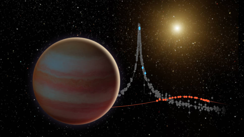 This illustration depicts a newly discovered brown dwarf, an object that weighs in somewhere between our solar system's most massive planet (Jupiter) and the least-massive known star. Image Credit: NASA/JPL-Caltech