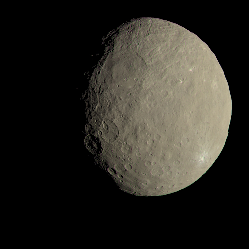 This image of Ceres approximates how the dwarf planet's colors would appear to the eye. Image Credit: NASA/JPL-Caltech/UCLA/MPS/DLR/IDA